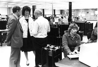 ESRC visit to AB Electronics, Swansea, 1985
