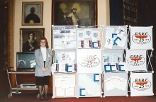 Jacky Clake, Current Head of Communications, at ESRC 25th anniversary celebrations, 1990