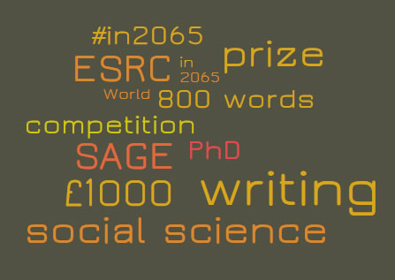 In 2065 Writing Competition word cloud