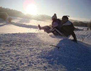 People sledging
