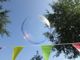 Bubble above flags