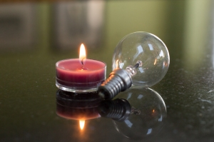 Candle and bulb