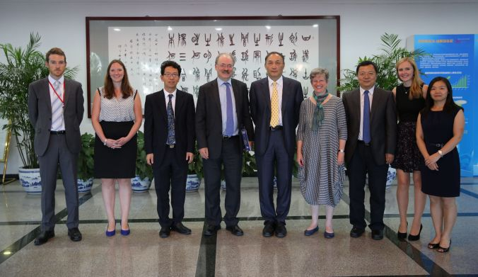 Meeting with Yang Wei, President of the National Natural Science Foundation of China and RCUK's primary funding partner in China.