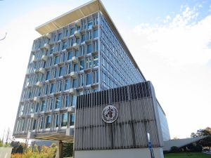 WHO Headquarters, in Geneva. Photo by Thorkild Tylleskar.