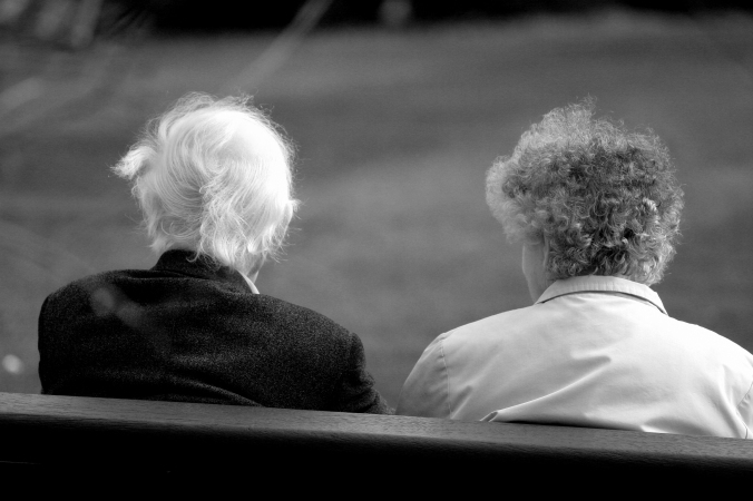 old couple in park MF