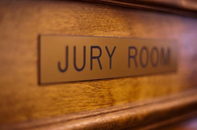 Jury Room Sign